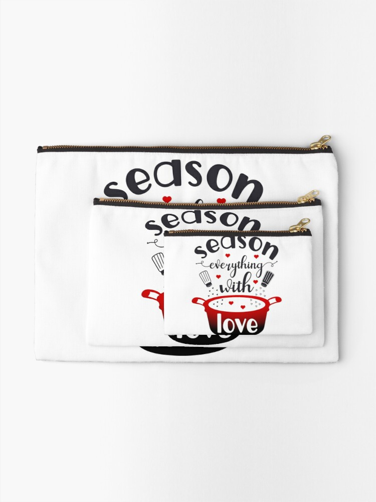 Alternate view of Season Everything With Love Zipper Pouch