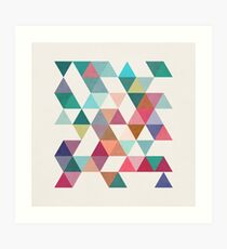 Triangles 1 by Latte Design Art Print