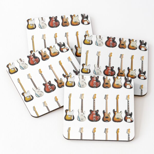 The Classic Guitar Collection Coasters (Set of 4)