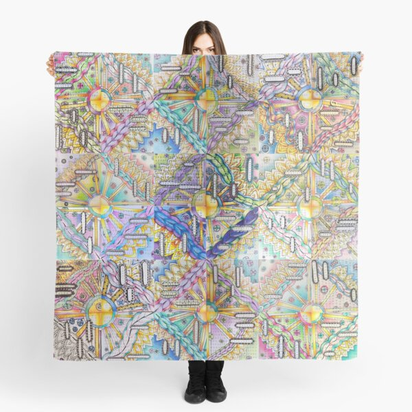 A Community Mosaic of Inspirational Words and Art Scarf