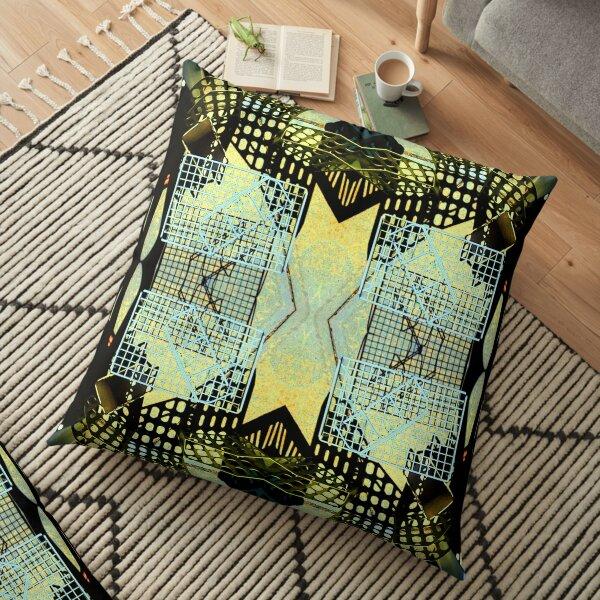 Plastic Cityscape Floor Pillow