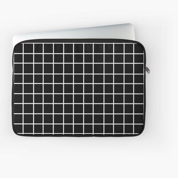 Black Tumblr Grid Pattern Laptop Sleeve