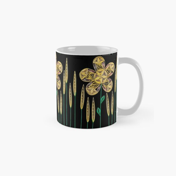 Big Yellow Flower and Grass Classic Mug