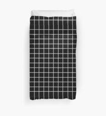 Black Tumblr Grid Pattern Duvet Cover