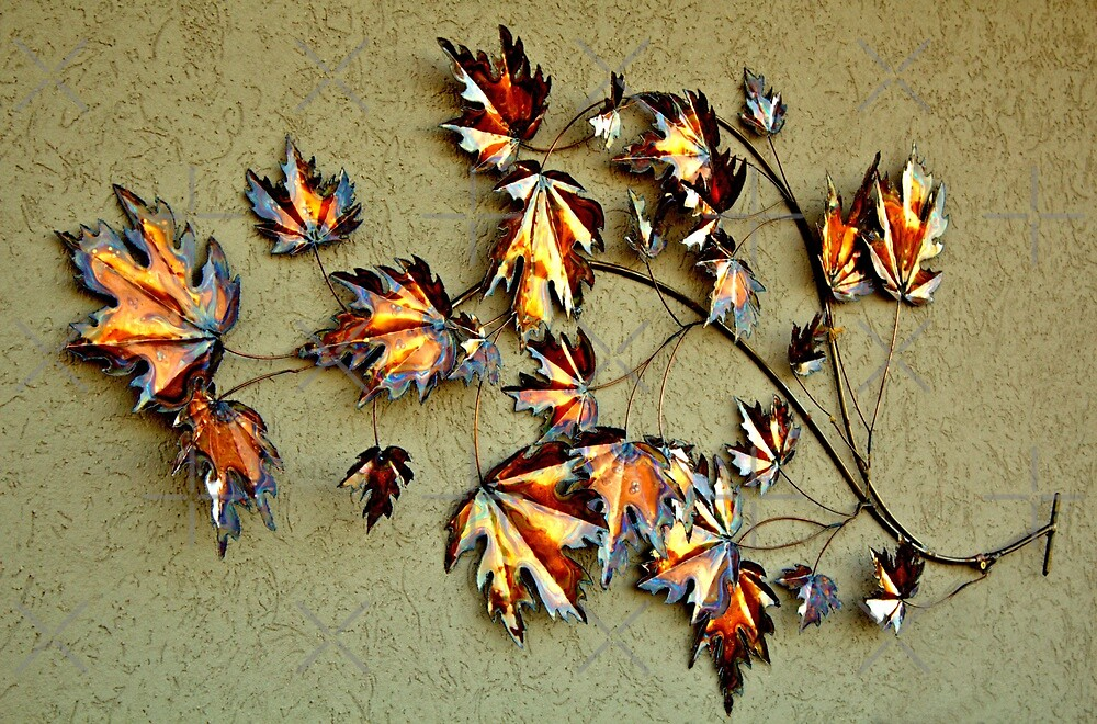 HDR Wall Decoration Metallic leaves by TeAnne