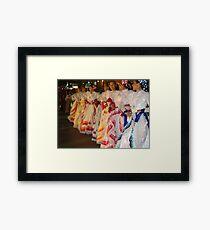 Traditional Coloured Costumes - Tradicional Trajes De Colores Framed Print