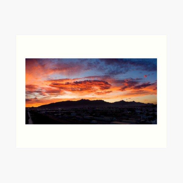 Sunset over El Paso Art Print