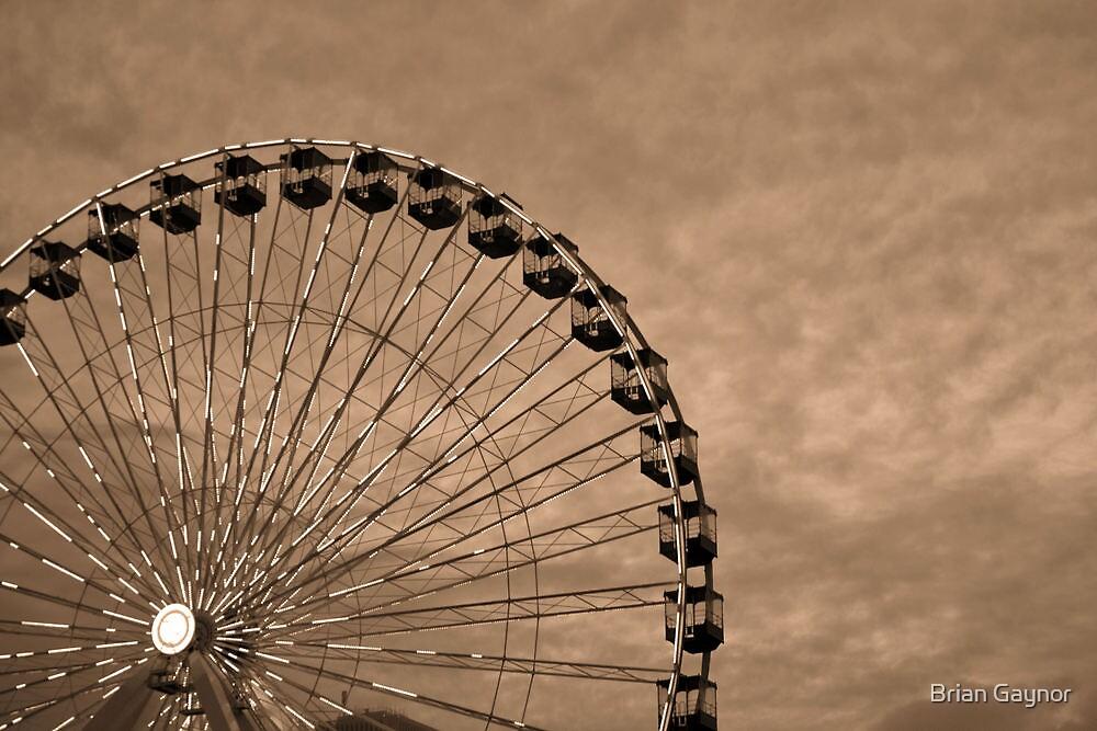Dusk Descends on the Ferris Wheel by Brian Gaynor