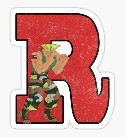 R-Guile (argyle) Sticker