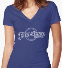 The Johnstown Company - Inspired by Springsteen's 'The River' (unofficial) Women's Fitted V-Neck T-Shirt