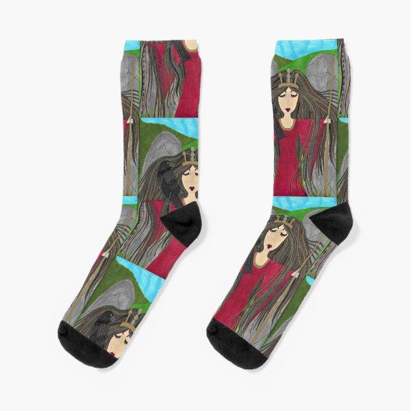 Macha - Celtic Goddess of Creation and Death Socks