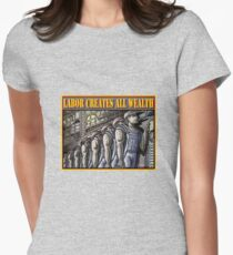 LABOR CREATES ALL WEALTH Womens Fitted T-Shirt