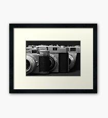 35mm. film trio Framed Print