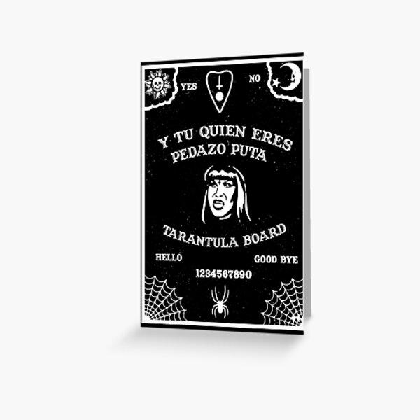 Tarantula Ouija Board Tarjetas de felicitación