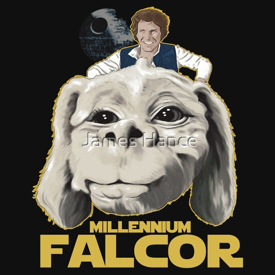 TShirtGifter presents: 'The Millennium Falcor' (The Neverending Story / Star Wars)