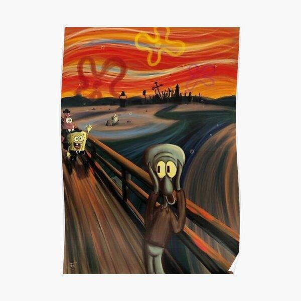 The Scream by Edvard Munch (Spongebob parody) Poster