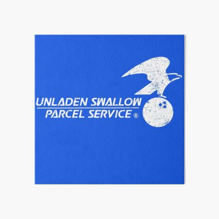 Unladen Swallow Parcel Service Art Board Print