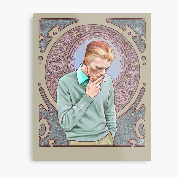 David Bowie in Mucha Metal Print