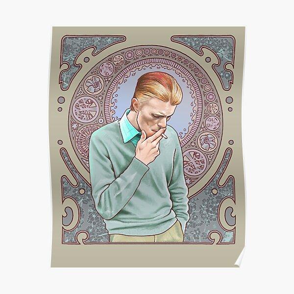 David Bowie in Mucha Poster