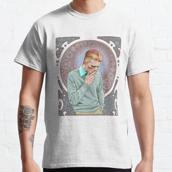 David Bowie à Mucha T-shirt classique