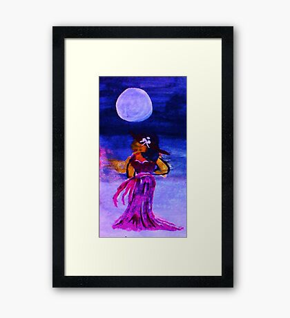 In the light of the moon, watercolor Framed Print