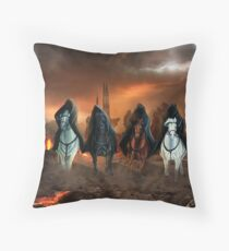 Four Horsemen Of The Apocalypse Throw Pillow