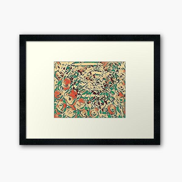Poppy Garden 17 designed & created by (c) Janet Watson Art  Framed Art Print