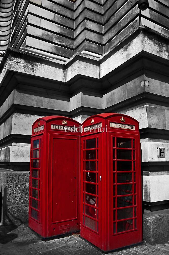 Red Telephone Box by eddiechui