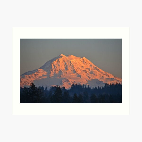Mount Rainier at Sunset Art Print