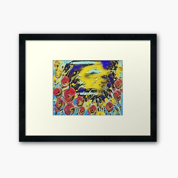 Poppy Garden 19 designed & created by (c) Janet Watson Art   Framed Art Print