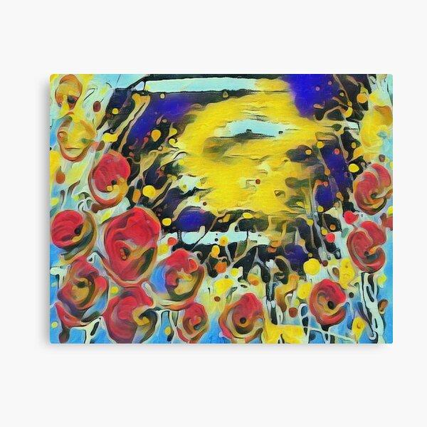 Poppy Garden 19 designed & created by (c) Janet Watson Art   Canvas Print