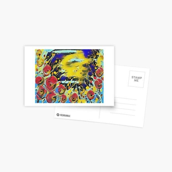 Poppy Garden 19 designed & created by (c) Janet Watson Art   Postcard
