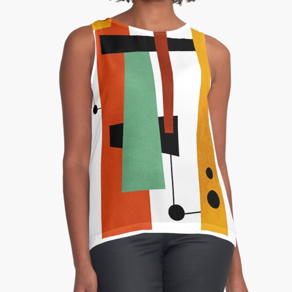 Modern Mid Century Art 2 Sleeveless Top