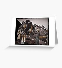 Women Working on Aircraft Propeller  Greeting Card
