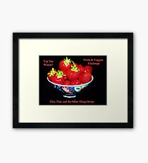 Top Ten - Fruits & Veggies Challenge Framed Print