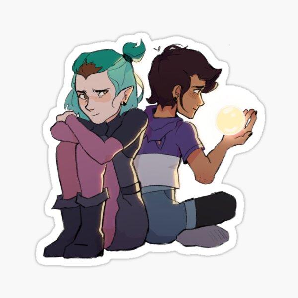 Amistad y Luz Pegatina