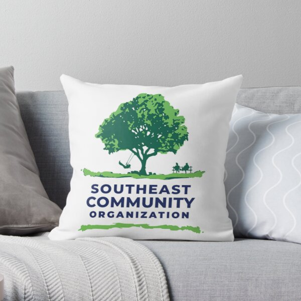 Show your support of the Southeast side of St. Paul, MN!   (Logo with white background.) Throw Pillow