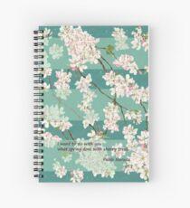 quiero hacer contigo lo que la primavera hace con los cerezos Spiral Notebook