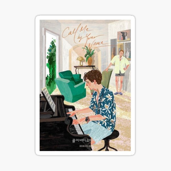 Call Me By Your Name Korean Poster Sticker