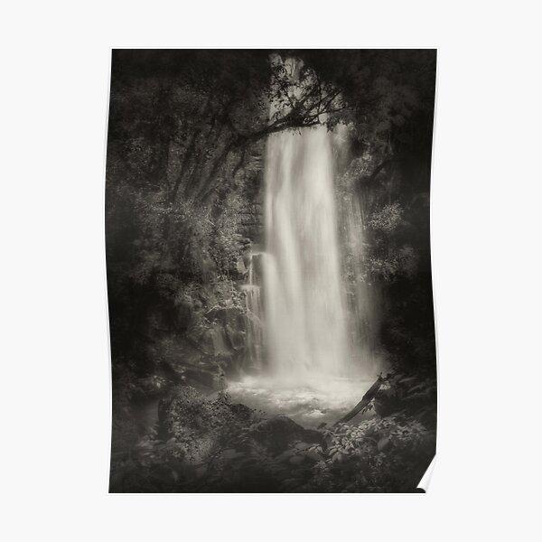 Water Veil Monochrome Poster