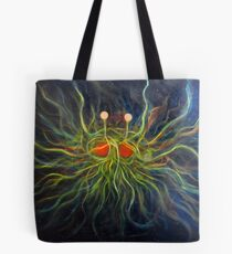 Flying Spaghetti Monster Painting- The Cosmic Pastalord Tote Bag