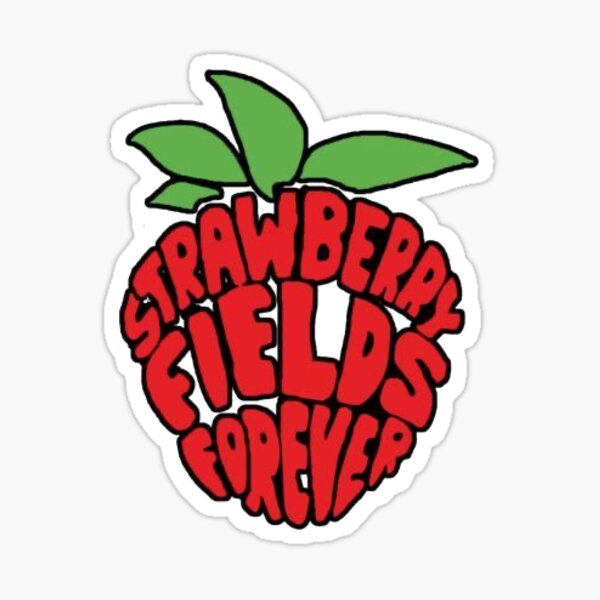 The Beatles Strawberry Fields Forever Sticker