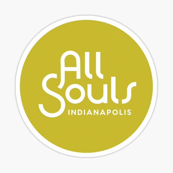 Chartreuse All Souls Indy Logo Sticker