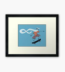 The Ancient Skater, Forever Skate ukiyo e style Framed Print