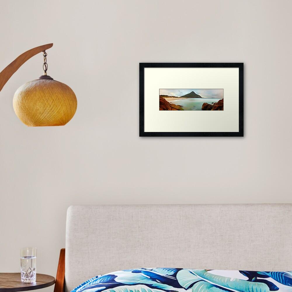Zenith Beach, Shoal Bay, New South Wales, Australia Framed Art Print