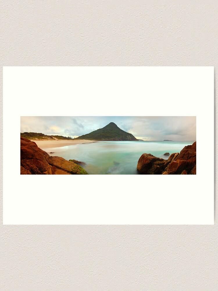 Alternate view of Zenith Beach, Shoal Bay, New South Wales, Australia Art Print