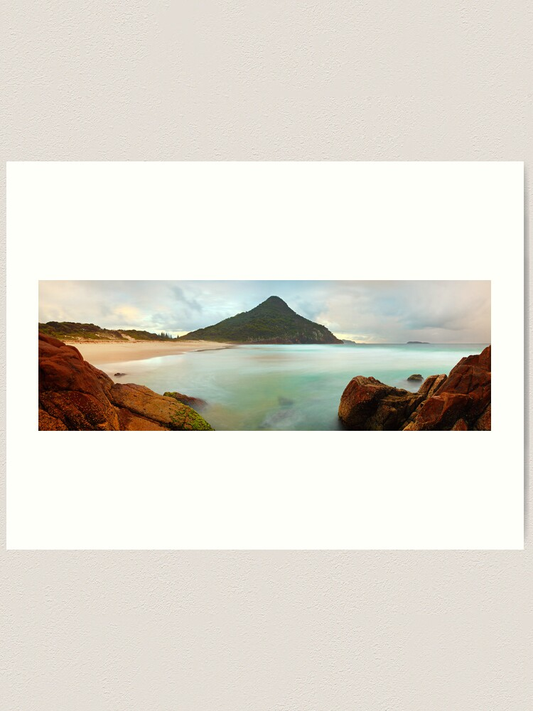 Alternate view of Zenith Beach, Shoal Bay, New South Wales, Australia Art Print