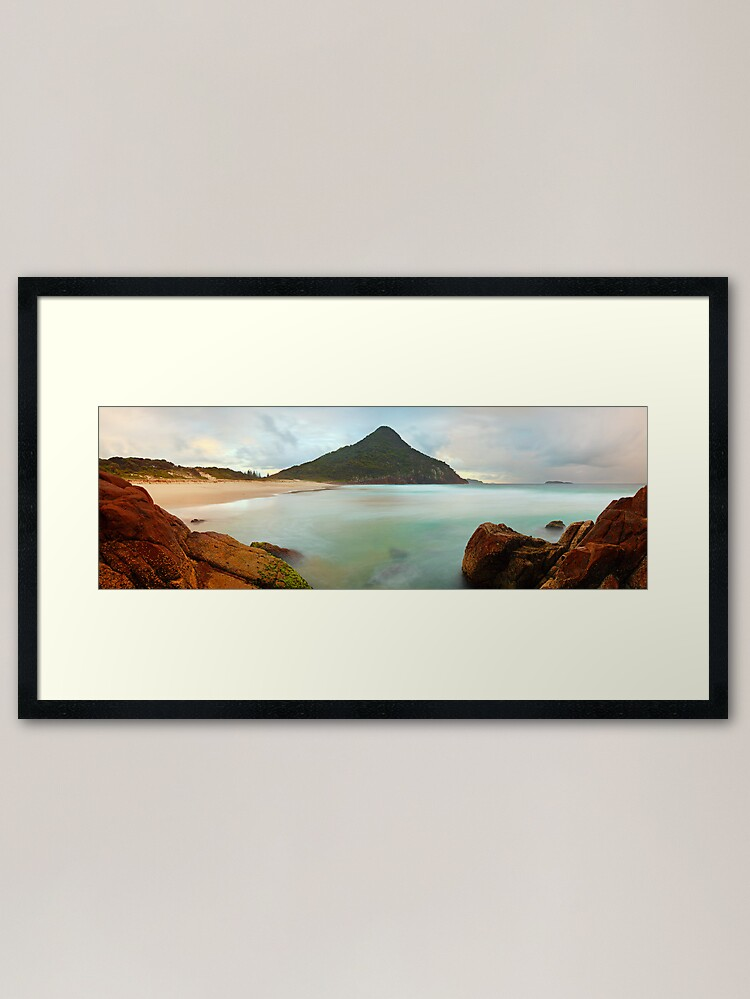 Alternate view of Zenith Beach, Shoal Bay, New South Wales, Australia Framed Art Print