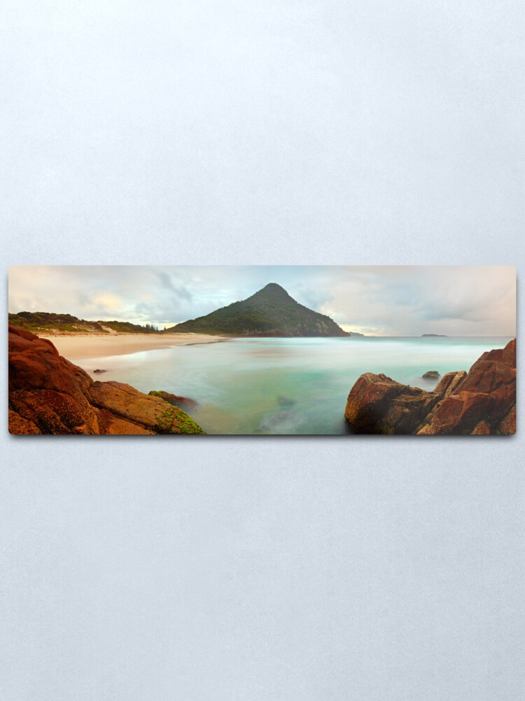Alternate view of Zenith Beach, Shoal Bay, New South Wales, Australia Metal Print