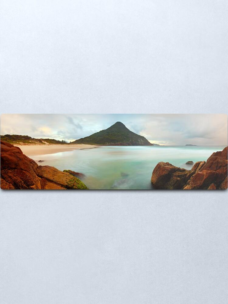 Alternate view of Zenith Beach, Shoal Bay, New South Wales, Australia Metal Print